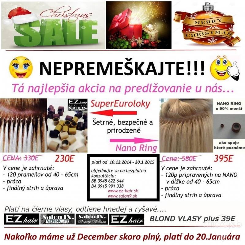 Predlžovanie vlasov EZ hair - Salon IX.  fa744276ee3