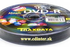 TRAXDATA DVD-R 4.7 GB 16x SP10 Magic Silver